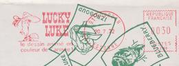 "FRANCE, Cinema /B.D, Film / Cartoon, EMA Du Dessin Animé ""LUCKY LUKE"", Sur Enveloppe Illustrée 1972 (très Rare !...) - Film"