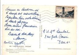 ANDORRE N°145 SEUL SUR CARTE POUR LA FRANCE 1971 - Lettres & Documents