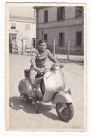 "MOTO SCOOTER - SCOOTER "" VESPA GS "" - FOTOGRAFIA CARTOLINA ORIGINALE - - Automobili"
