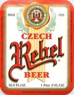 Ancienne étiquette BIERE E13 REPUBLIQUE TCHEQUE REBEL BEER - Birra