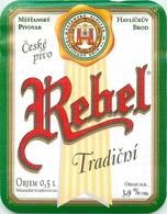 Ancienne étiquette BIERE E13 REPUBLIQUE TCHEQUE REBEL TRADICNI - Birra