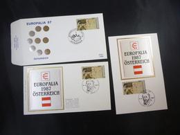 "BELG.1987 2247 FDC & FDC Soie/zijde & Mcard Soie/zijde : ""  Europalia '87 ""- Autriche/Europalia '87 - Oostenrijk - FDC"