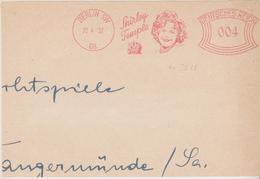 ALLEMAGNE, Cinema, Film, EMA Shirley Temple, Twentieth Century Fox, Berlin, 1937, Sur Devant D'enveloppe (très Rare !..) - Cinéma