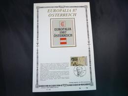 """BELG.1987 2247 FDC Filakaart Zijde , NL. Ed.Lim. : """"  Europalia '87 """"- Autriche/Europalia '87 - Oostenrijk - FDC"""