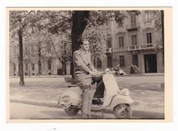 """MOTO SCOOTER - """" VESPA  """" - SCOOTER - TORINO - FOTO ORIGINALE 1953 - Automobili"""