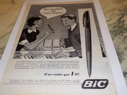 ANCIENNE PUBLICITE BIC MYSTERE  STYLO BIC   1960 - Autres