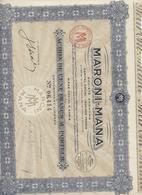 Guyane, Action  Maroni-mana, Exploitation Forestière, Complet Avec 20 Coupons Saint Laurent De Maroni, 1927 - Agriculture