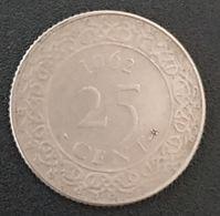 SURINAME - 25 CENTS 1962 - Juliana - KM 14 - Antilles Néerlandaises