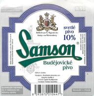 Ancienne étiquette BIERE E13 REPUBLIQUE TCHEQUE SAMSON - Birra