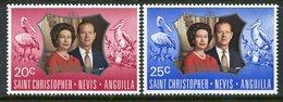 St Kitts, Nevis & Anguilla 1972 Royal Silver Wedding Set MNH (SG 256-257) - St.Christopher-Nevis & Anguilla (...-1980)