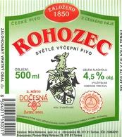 Ancienne étiquette BIERE E13 REPUBLIQUE TCHEQUE ROHOZEC - Birra
