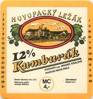 Ancienne étiquette BIERE E13 REPUBLIQUE TCHEQUE KUMBURAK - Birra