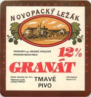Ancienne étiquette BIERE E13 REPUBLIQUE TCHEQUE GRANAT - Birra