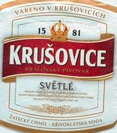 Ancienne étiquette BIERE E13 REPUBLIQUE TCHEQUE KRUSOVICE - Birra