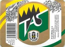 Ancienne étiquette BIERE E13 REPUBLIQUE TCHEQUE TAS - Birra