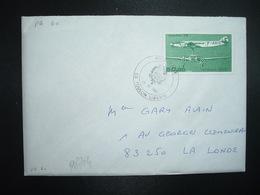 LETTRE TP YT PA60 DEWOITINE 338 50,00 OBL.26 XI 1987 83 TOULON LIBERTE PHILATELIE - 1960-.... Cartas