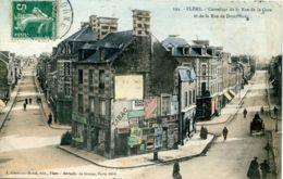 N°6327 T -cpa Flers -carrefour De La Rue De La Gare Et De La Rue De Domfront- - Flers