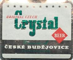 Ancienne étiquette BIERE E13 REPUBLIQUE TCHEQUE CRYSTAL - Birra