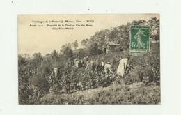 54 - TOUL - Vendanges Maison J MICHEL En 1911 Propriéé Deuil Et Cru Des Roses Cote St Michel Animé Bon état - Toul