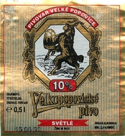 Ancienne étiquette BIERE E13 REPUBLIQUE TCHEQUE VELKOPOPOVICKE - Birra