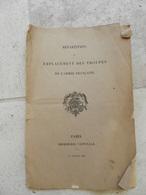Emplacement Des Troupes De L'armée Francaise 1897 - Libri