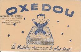BUVARD MATELAS OXEDOU MEUBLES DEBONTE VACOSSIN HENIN LIETARD PAS DE CALAIS - Buvards, Protège-cahiers Illustrés