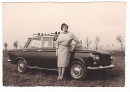 "AUTOMOBILE -  FIAT "" 1300 ""  - AUTO - CAR - DONNA -  FOTO ORIGINALE 1965 - Automobili"