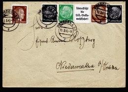 A6662) DR Brief Dresden 15.03.43 N. Niederwartha Mit Zusammendruckstreifen - Deutschland
