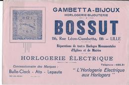 BUVARD BOSSUT BIJOUX HORLOGERIE LILLE - Buvards, Protège-cahiers Illustrés