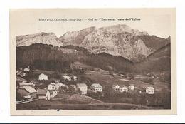 CPA 74 MONT SAXONNEX Col De L'Encrenaz Route De L'Eglise - Other Municipalities