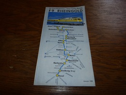 CB17F2 Brochure F9 Rheingold 1965 Trans-Europ-Express Deutsche Bundesbahn  Deutsche Bahn - Tourism Brochures