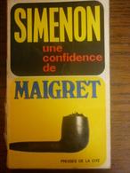 SIMENON: Une Confidence De MAIGRET / Presses De La Cité, 1967 - Books, Magazines, Comics