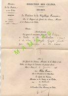 MINISTERE DE LA JUSTICE ET DES CULTES - NOMINATION A LA CURE ARGELES GAZOST EN 1898 - FELIX FAURE PRESIDENT - Religion & Esotérisme