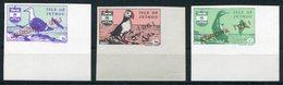 1961 Jethou Europa Birds, Imperf Corner Marginal Set. Unmounted Mint - Local Issues