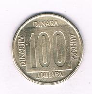 100 DINAR 1989  JOEGOSLAVIE /2480// - Yugoslavia