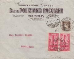 Da Siena  - Cent 10 Imperiale +coppia  Cent. 20 Accademia Di Livorno 1932 - 1900-44 Victor Emmanuel III