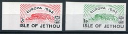 1962 Guernsey Jethou Europa Marginal IMPERF Set. Unmounted Mint - Local Issues