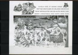 [G1152] België BL98 - Kerstmis En Nieuwjaar - Stampilou - Strips - BD - Oplage: 75ex - Zeldzaam - Rare - Cote: € 50,00 - Ministerial Panes