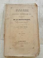 ANNUAIRE HAUTE MARNE 1853 - Champagne - Ardenne