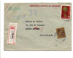 PORTUGAL LETTRE AVION RECOMMANDEE DE ARROIOS POUR LA FRANCE 1968 - Lettres & Documents