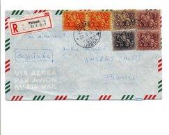 PORTUGAL LETTRE AVION RECOMMANDEE DE PICOAS POUR LA FRANCE 1961 - Lettres & Documents