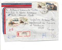 PORTUGAL DEVANT DE LETTRE AVION RECOMMANDEE DE AEROSA  POUR LA FRANCE 1980 - 1910-... République