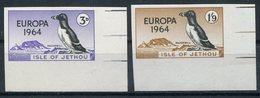 1964 Guernsey Jethou Europa Razorbill Birds, Corner Marginal IMPERF Set. Unmounted Mint - Local Issues