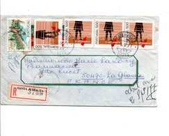 PORTUGAL LETTRE RECOMMANDEE DE SANTA JUSTA POUR LA FRANCE 1977 - Lettres & Documents