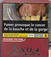 BOITE 10 CIGARILLOS VIDE EXO NEOS PUBLICITE CANCER PLASTIC 3889 - Zigarrenetuis