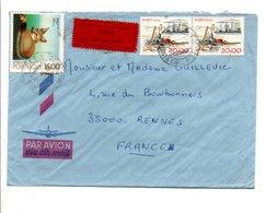 PORTUGAL LETTRE  AVION DE SANTA CRUZ ACORES POUR LA FRANCE 1980 - 1910-... République