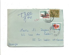 PORTUGAL LETTRE DE PAREDE POUR LA FRANCE 1972 TAXEE A L'ARRIVEE - Lettres & Documents