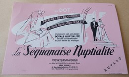 BUVARD LA SEQUANAISE NUPTIALITE ASSURANCE 4 RUE JULES LEFEBVRE PARIS - Papel Secante