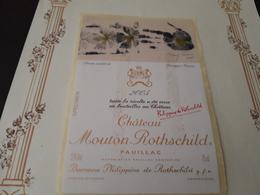 SUPERBE ÉTIQUETTE CHÂTEAU MOUTON-ROTHSCHILD 2005 ( Spécimen) - Bordeaux