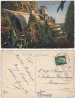 GRIMALDI - IMPERIA - PONTE FRONTIERA SUL BURRONE SAN LUIGI - VIAGG. 1936 -46172- - Imperia